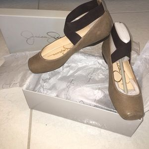 Jessica Simpson tobacco ballet shoes, 6.5M, NWT